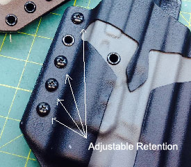 adjustable retention